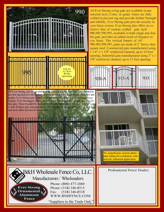 Ornamental Aluminum Fencing Brochure Page 4