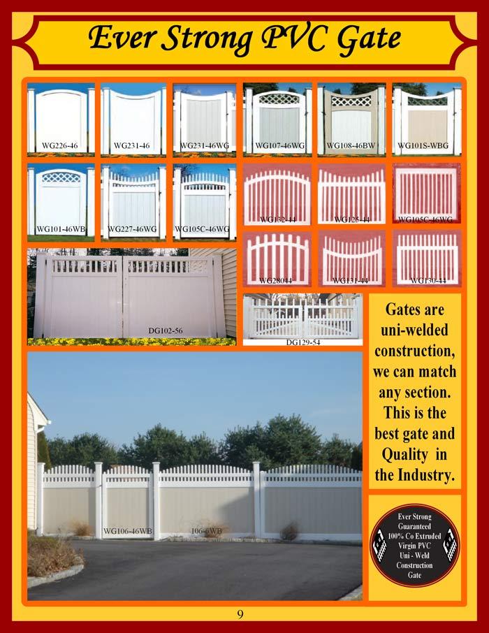Vinyl Fence Brochure Page 9 - Vinyl Gates