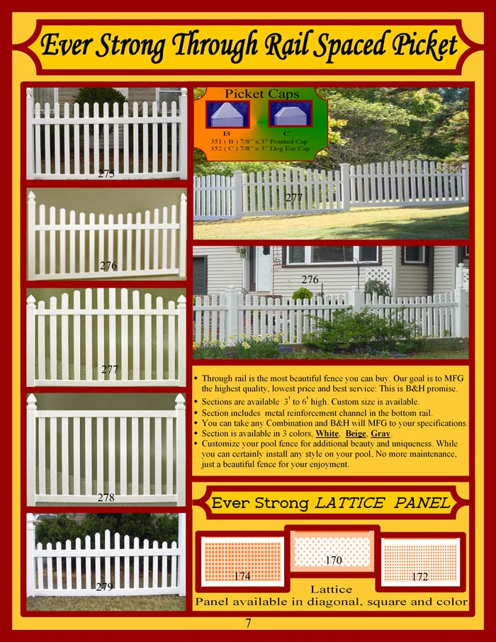 Vinyl Fence Brochure Page 7 - TTR Spaced Picket Fencing