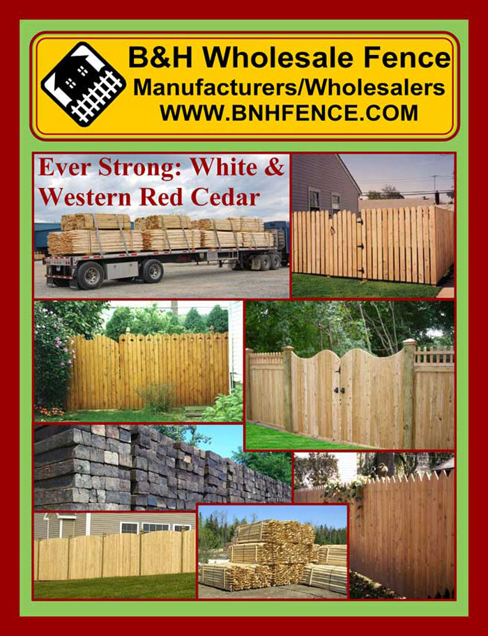 Cedar Fencing Brochure Page 1 - Cover