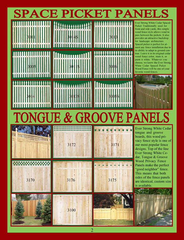 Wood Fencing Brochure Page 2