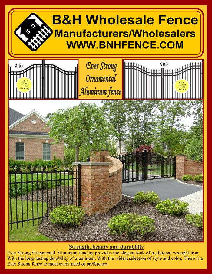 Ornamental Aluminum Fencing Brochure Page 1