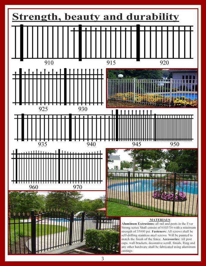 Ornamental Aluminum Fencing Brochure Page 3
