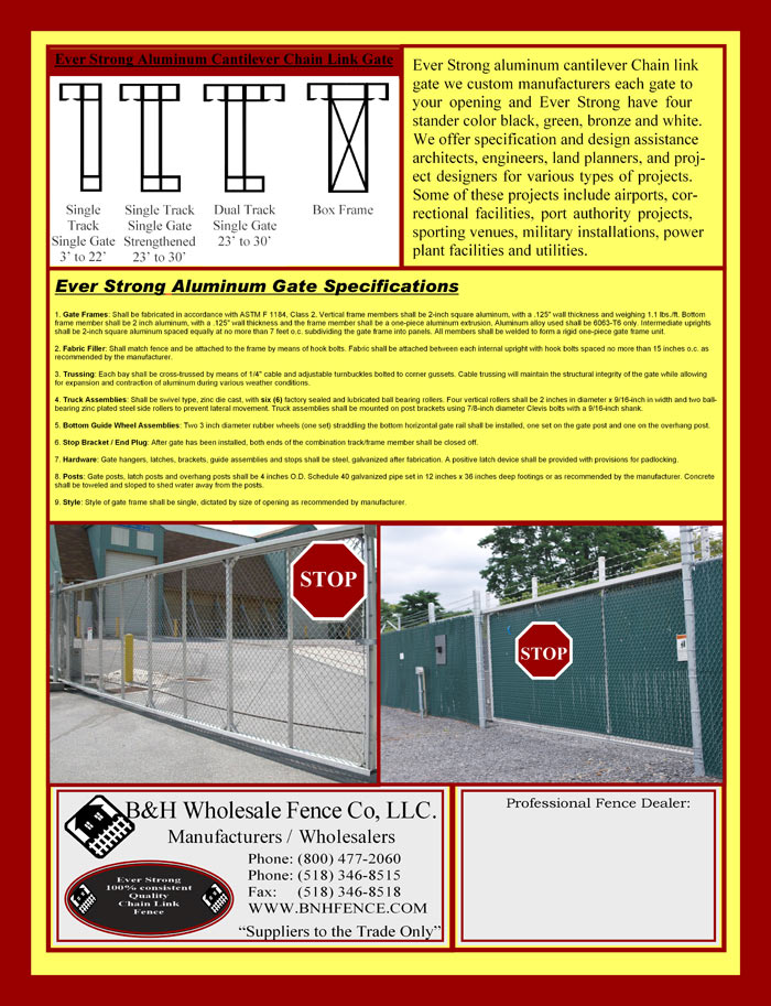 Chain Link Fencing Brochure Page 2