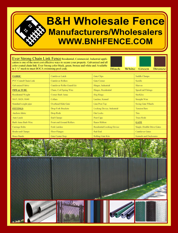 Chain Link Fencing Brochure Page 1
