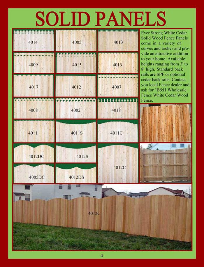 Cedar Fencing Brochure Page 4