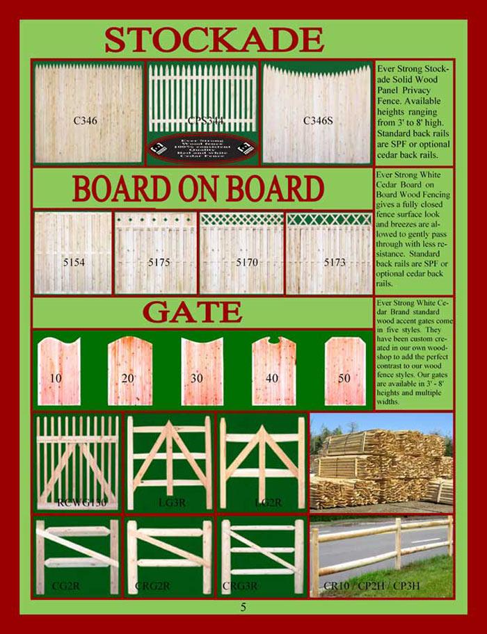 Cedar Fencing Brochure Page 5