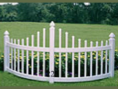 Curved Vinyl Corner Picket Fencing Accent Panel
