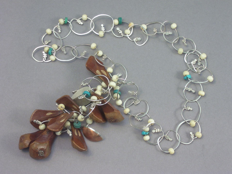 Necklace with Pine Cone Nodes.