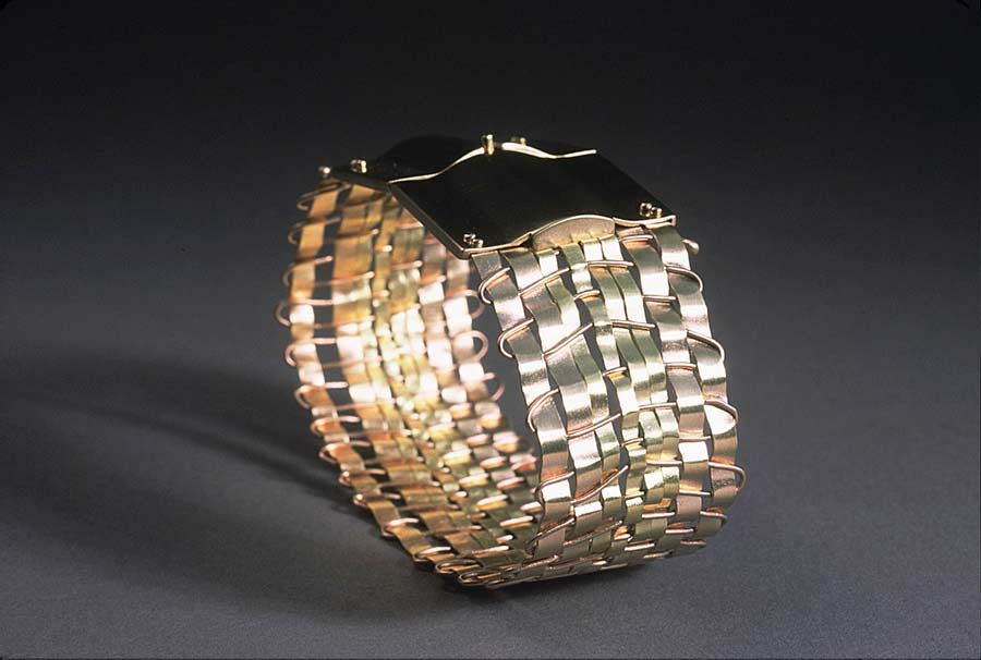 Bracelet: Woven with Handmade Box Clasp