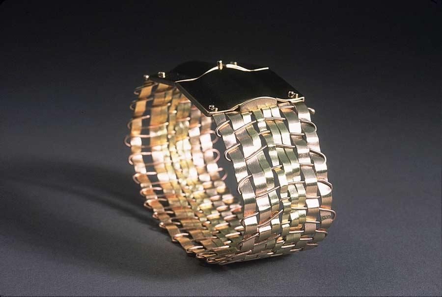 Bracelet: Woven with Handmade Box Clasp