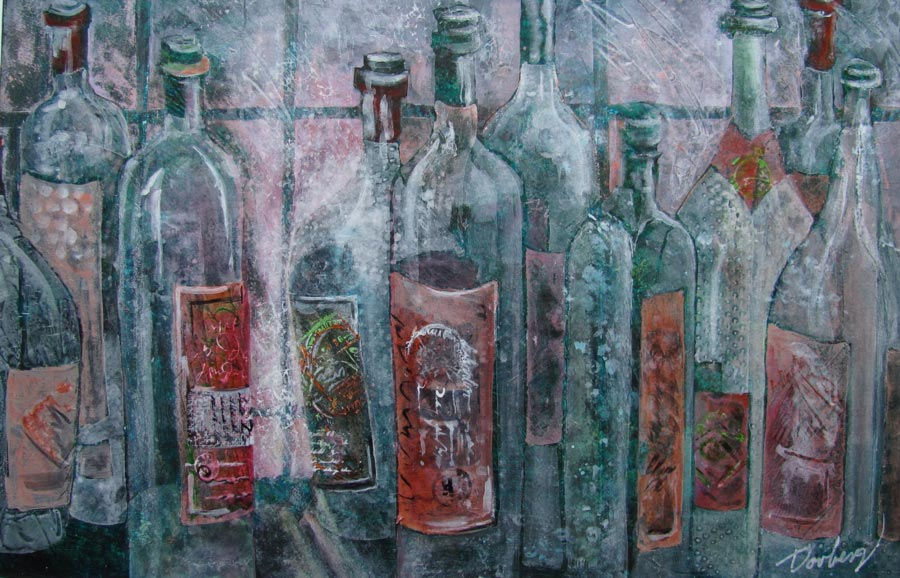 Bottles On A Windowsill