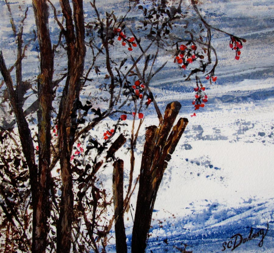 SOLD-Winter At Buckingham Pond