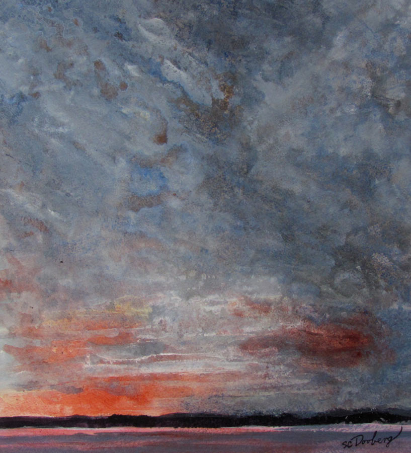 SOLD-Sunset from Plymouth