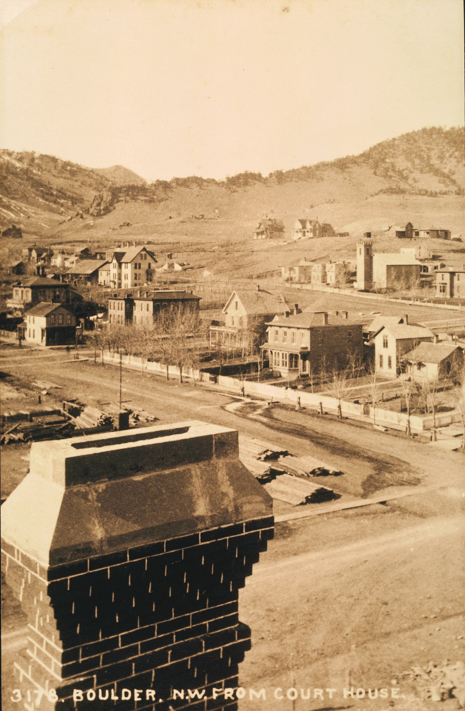 View From Old Boulder County Courthouse 1883