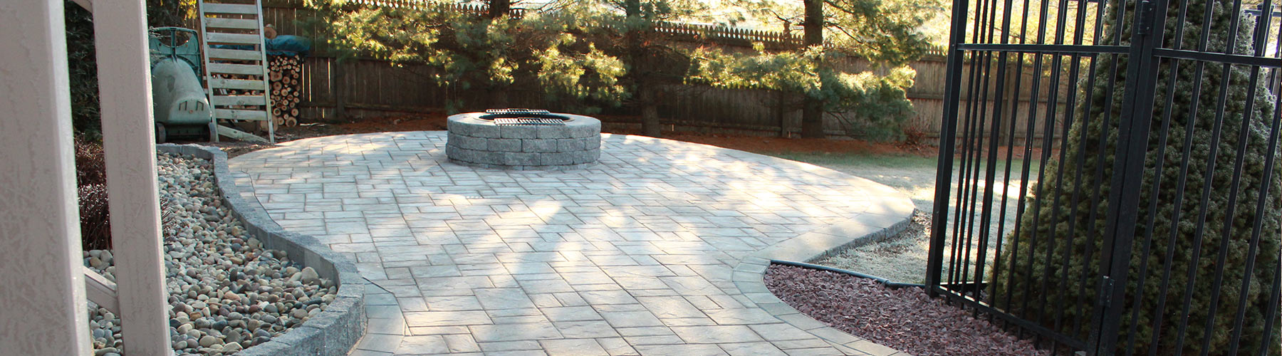 Stone Patio With Firepit