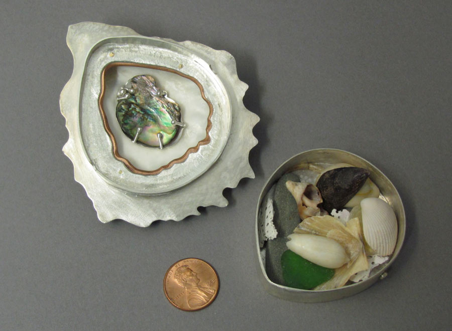 Gifts From The Sea - Oyster Shell Box - Interior View