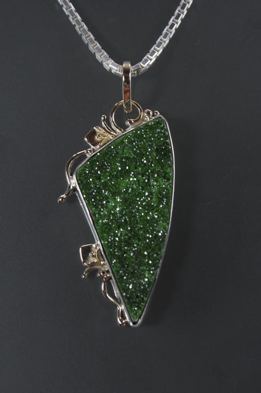 Uvarovite Garnet in Sterling & 14K