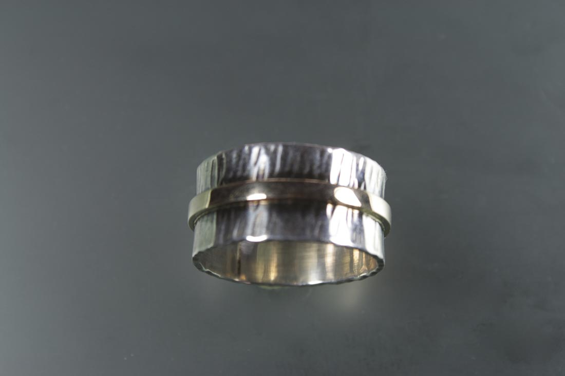 R-9860 10 MM Wide Band in Sterling & 14K