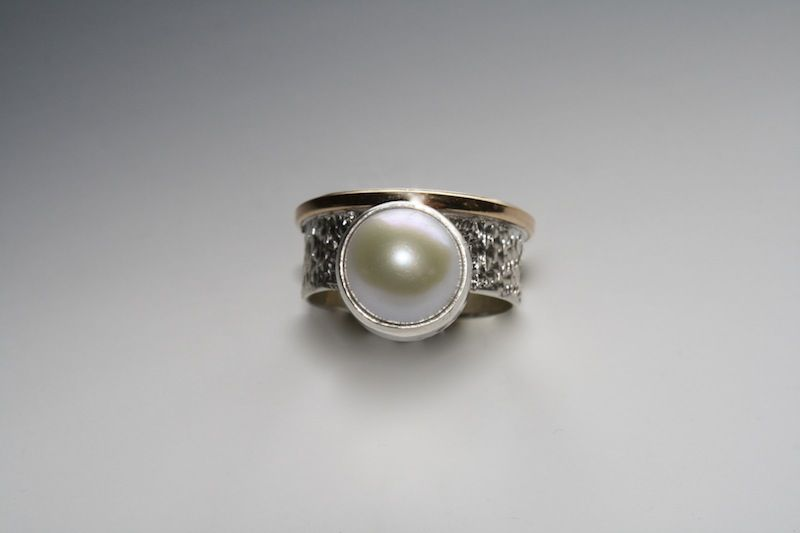 Fresh Water Pearl set in Sterling and 14K