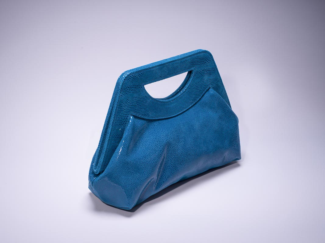 Lena French Blue Stingray Handbag