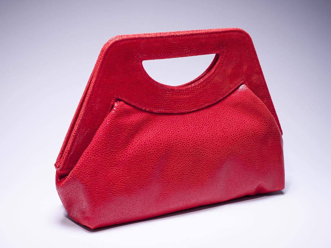 Lena Poppy Red Stingray Handbag