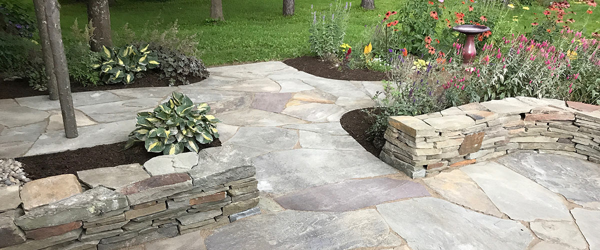 Patio, Garden and Stone Wall